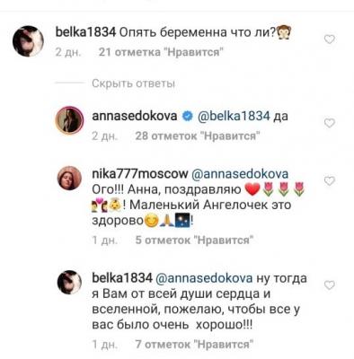 Анна Седокова подтвердила, что беременна в четвертый раз