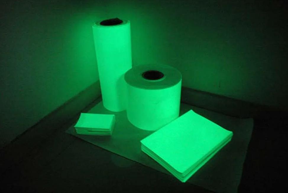 Фотолюминесцентная пленка для подсветки любых предметов и декоров.